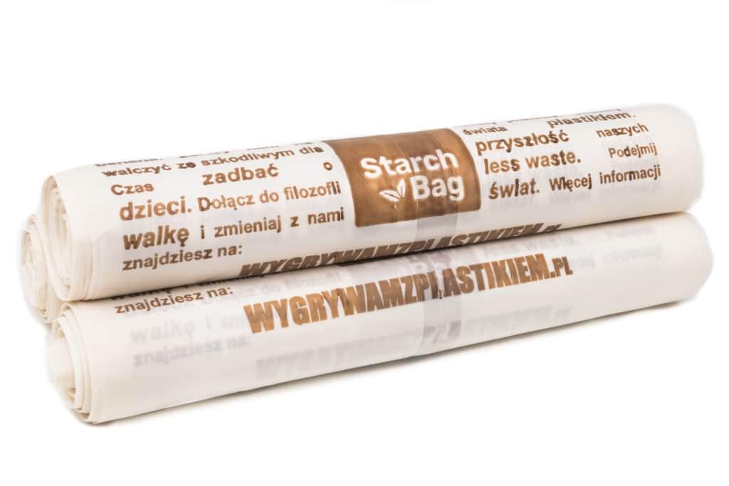 biodegradowalny i kompostowalny worek StarchBag 35l